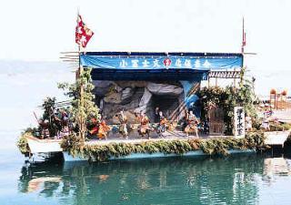 松山市のホームページ「興居島の船踊り」のページへ